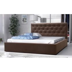 łóżko tapicerowane hera brąz
