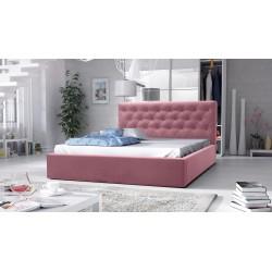 łóżko tapicerowane hera żółte różowe