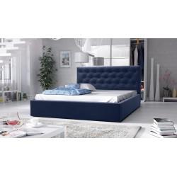 łóżko tapicerowane hera granat łóżko tapicerowane hera szare