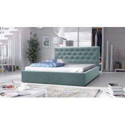 łóżko tapicerowane hera pastelowy niebieski łóżko tapicerowane hera szare