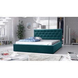 łóżko tapicerowane hera turkus