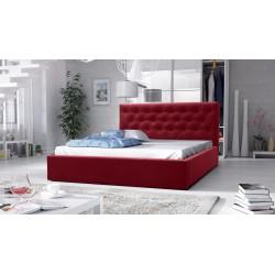łóżko tapicerowane hera bordo