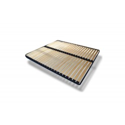 Stelaż Łóżko tapicerowane MOON szary