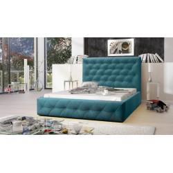Łóżko tapicerowane MOON turkus Łóżko tapicerowane MOON szary