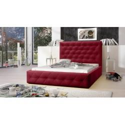 Łóżko tapicerowane MOON bordo Łóżko tapicerowane MOON szary