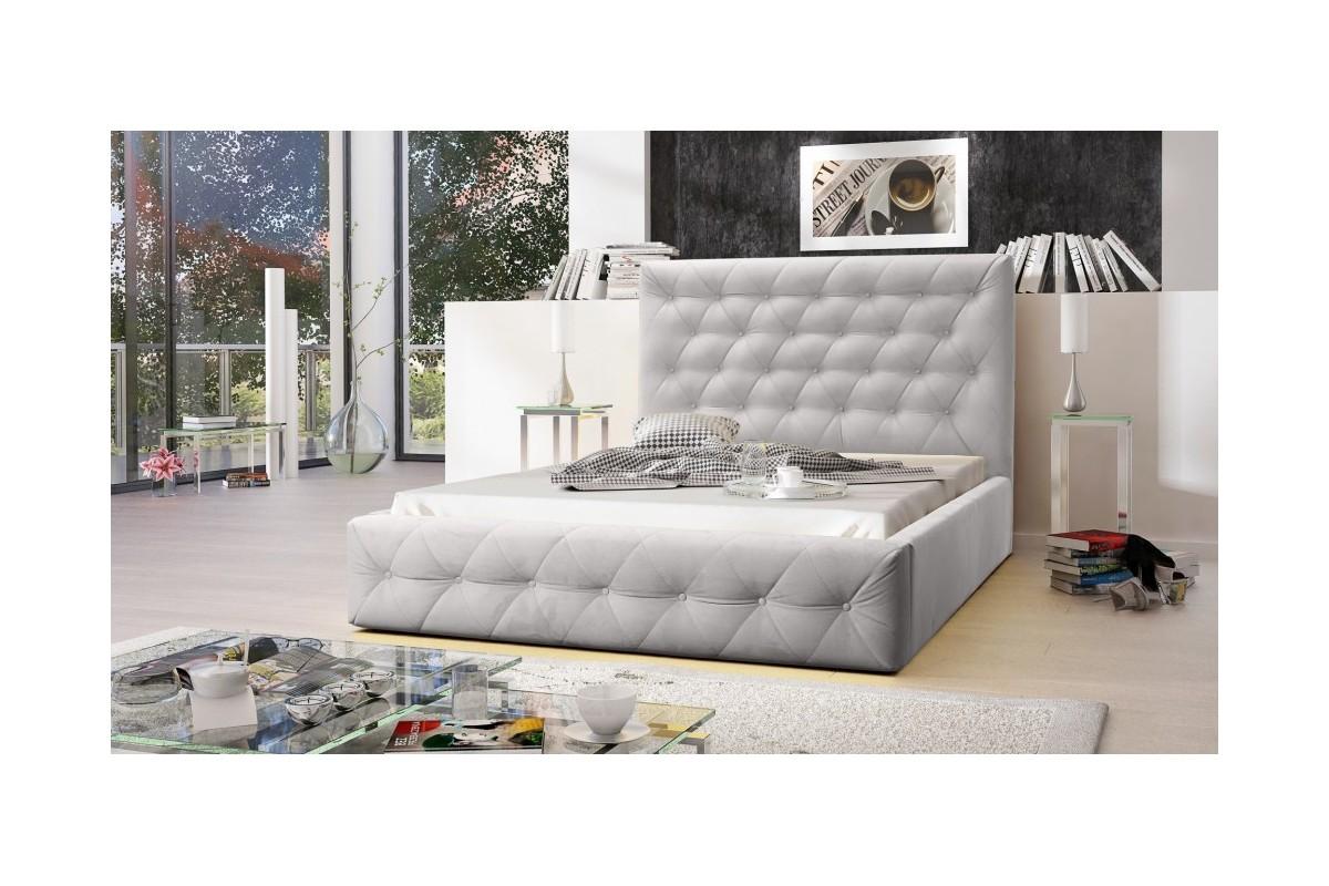 Łóżko tapicerowane MOON szary