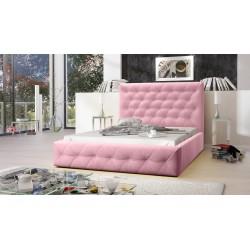 Łóżko tapicerowane MOON rożowy Łóżko tapicerowane MOON szary