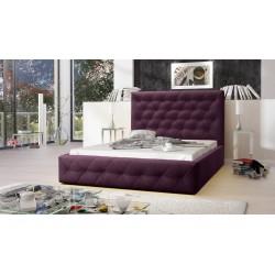 Łóżko tapicerowane MOON fioletowy Łóżko tapicerowane MOON szary