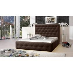 Łóżko tapicerowane MOON brąz Łóżko tapicerowane MOON szary