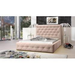 Łóżko tapicerowane MOON beżowy Łóżko tapicerowane MOON szary