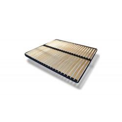 Stelaż Łóżko tapicerowane LAURA biało-turkusowy