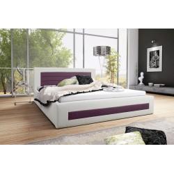 Łóżko tapicerowane LAURA biało-fioletowy Łóżko tapicerowane LAURA biało-turkusowy