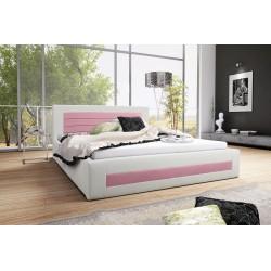 Łóżko tapicerowane LAURA biało-różowy Łóżko tapicerowane LAURA biało-turkusowy