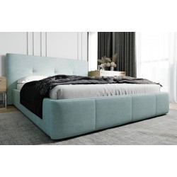 Łóżko tapicerowane AVANTI pastelowy niebieski