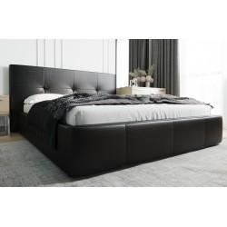 Łóżko tapicerowane AVANTI czarny