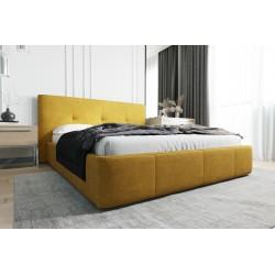 Łóżko tapicerowane AVANTI żółty