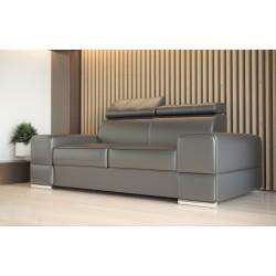 Sofa REY II szara skóra naturalna