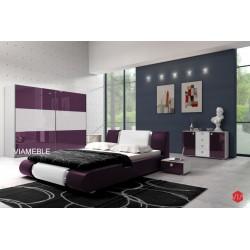 Sypialnia AGAT w kolorze biało - fioletowym