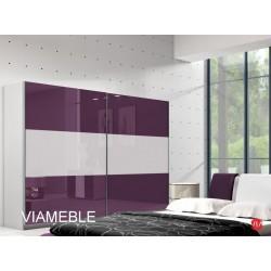 Sypialnia AGAT w kolorze biało - fioletowym Sypialnia AGAT w kolorze biało - fioletowym