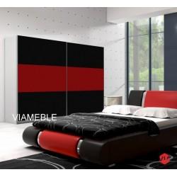 Sypialnia AGAT w kolorze czarno - czerwonym Sypialnia AGAT w kolorze czarno - czerwonym