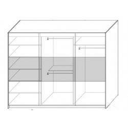 Wnętrze szafy w rozmiarze 270 cm Sypialnia AGAT w kolorze czarno - czerwonym