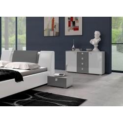 Sypialnia LUXURY w kolorze biało-szarym Sypialnia LUXURY w kolorze biało-szarym