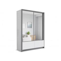 Szafa w rozmiarze 150 cm ( fronty kolor biały ) Sypialnia LUXURY w kolorze biało - czarnym