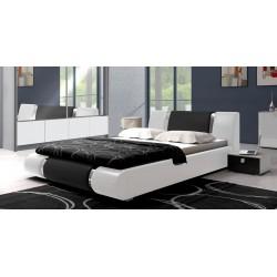 Sypialnia LUXURY w kolorze biało-czarnym Sypialnia LUXURY w kolorze biało - czarnym