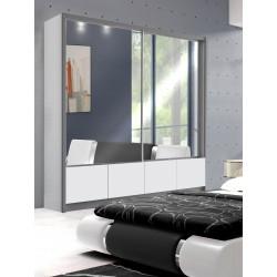 Sypialnia LUXURY w kolorze biało-szarym Sypialnia LUXURY w kolorze biało - czarnym