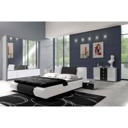 Sypialnia LUXURY w kolorze biało - czarnym