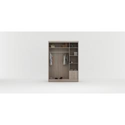 Wnętrze szafy w rozmiarze 150 cm Sypialnia ROYAL w kolorze biało-czarnym