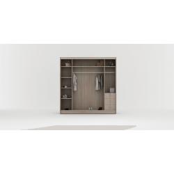 Wnętrze szafy w rozmiarze 200 cm Sypialnia ROYAL w kolorze biało-czarnym