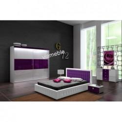 Łóżko tapicerowane ONYKS z ekologicznej skóry