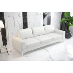 Sofa GLORIA DL 260 cm biała eco skóra