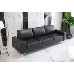Sofa GLORIA DL 260 cm czarna eco skóra Sofa GLORIA DL 260 cm