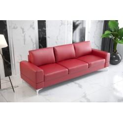 Sofa GLORIA DL 260 cm czerwona eco skóra