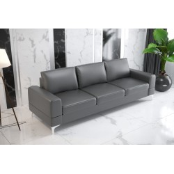 Sofa GLORIA DL 260 cm szara eco skóra Sofa GLORIA DL 260 cm
