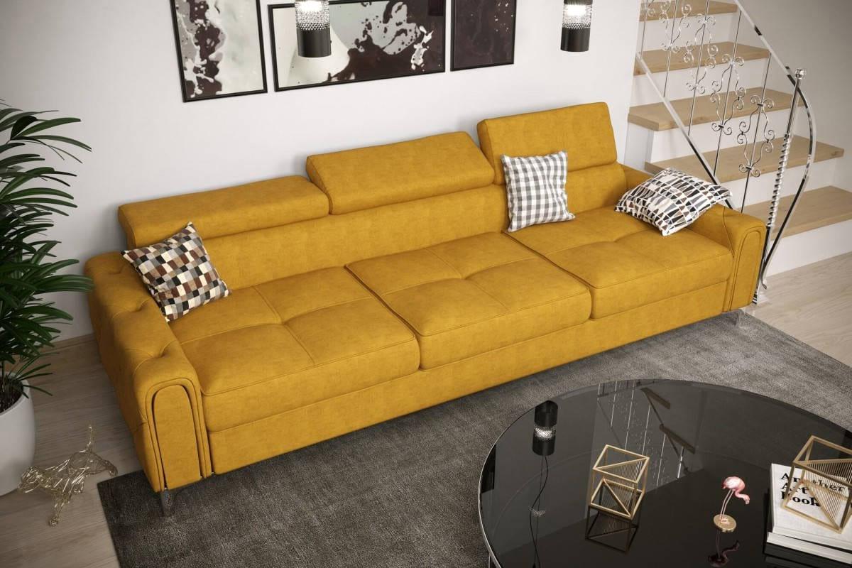 Sofa CARO 255 cm żółty