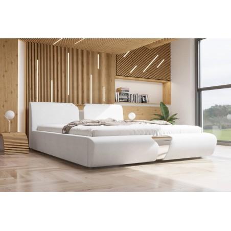 Łóżko tapicerowane SORI białe