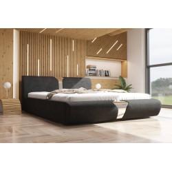 Łóżko tapicerowane SORI czarne Łóżko tapicerowane SORI białe