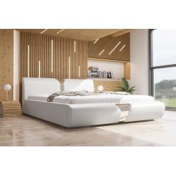 Łóżko tapicerowane SORI biała eco skóra Łóżko tapicerowane SORI białe