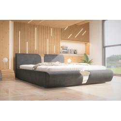Łóżko tapicerowane SORI szare Łóżko tapicerowane SORI białe