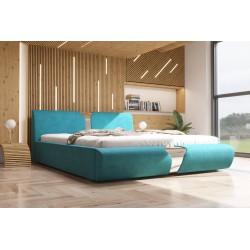 Łóżko tapicerowane SORI turkus Łóżko tapicerowane SORI białe