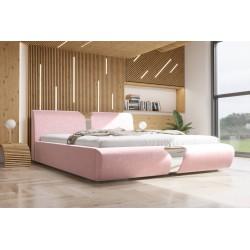 Łóżko tapicerowane SORI pudrowy róż Łóżko tapicerowane SORI białe