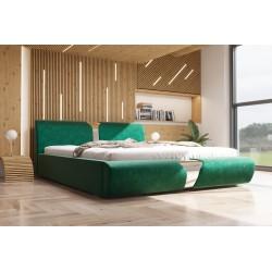 Łóżko tapicerowane SORI butelkowa zieleń Łóżko tapicerowane SORI białe
