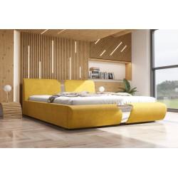 Łóżko tapicerowane SORI żółte Łóżko tapicerowane SORI białe