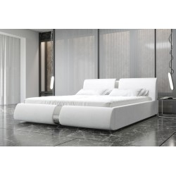 Łóżko tapicerowane ROSIE białe
