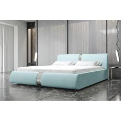 Łóżko tapicerowane ROSIE pastelowy niebieski