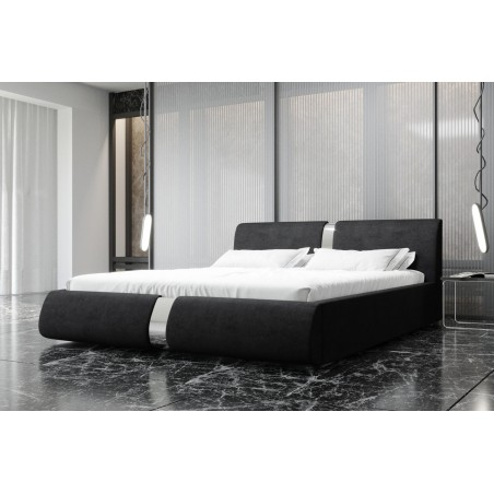 Łóżko tapicerowane ROSIE czarne