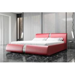 Łóżko tapicerowane ROSIE czerwona eco skóra
